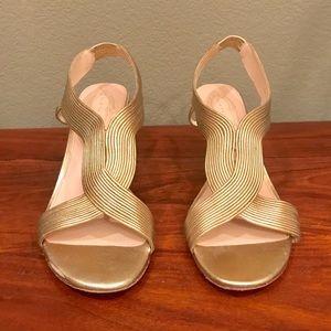 Elie Tahari Gold Dress Heels